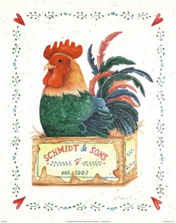 Schmidt and Sons Rooster  Fine-Art Print
