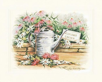 Watering Can Daisies  Fine-Art Print
