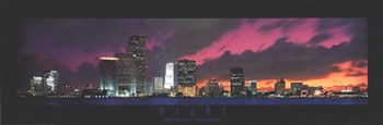 Miami - Sunset with Cool Clouds  Fine-Art Print
