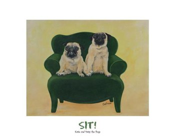 Katie And Daisy The Pugs  Fine-Art Print