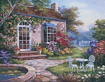 Spring Patio I  Fine-Art Print