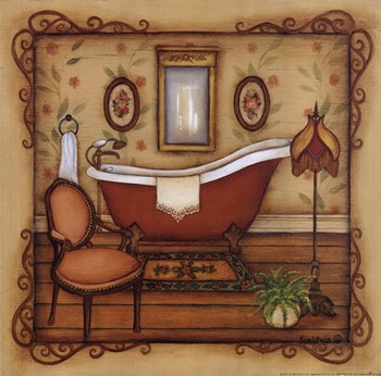 Vintage bath fine art print bathrooms art prints and for Vintage bathroom printables