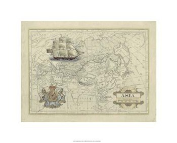 Antique Map Of Asia  Giclee