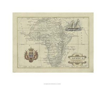 Antique Map Of Africa  Giclee