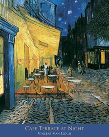 The Cafe Terrace on the Place du Forum, Arles, at Night, c.1888  Wall Poster