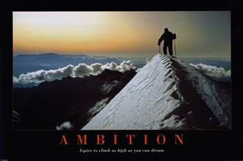 Ambition Wall Poster