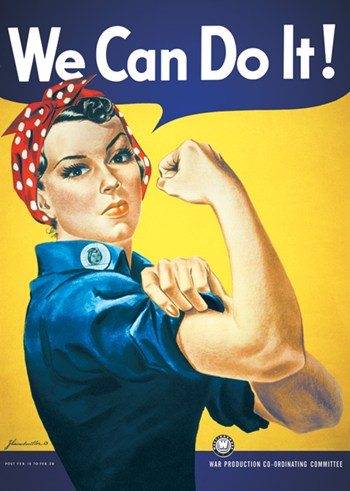 Rosie The Riveter - We Can Do It!  Wall Poster