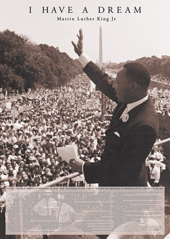 I Have A Dream - Martin Luther  Wall Poster