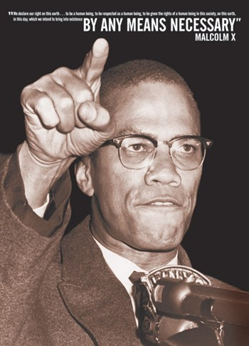 By Any Means - Malcolm X  Wall Poster