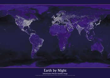 planet earth from space at night - photo #30