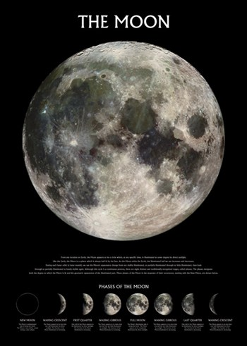 The Moon - Outer Space  Wall Poster
