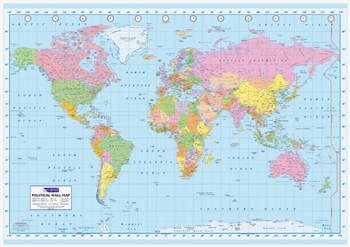 Political World Map, c.2007 (oversized)  Wall Poster