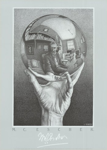Hand with Sphere  Wall Poster