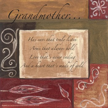 Words to Live By, Decor...Grandmother  Fine-Art Print