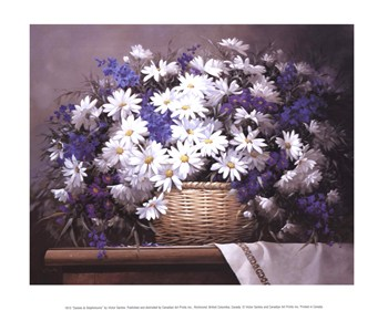 Daisies and Delphiniums  Fine-Art Print