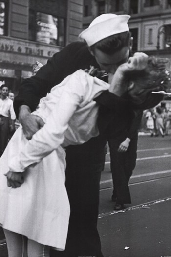 Kissing the War Goodbye, VJ Day, Times Square, August 14, 1945  Wall Poster