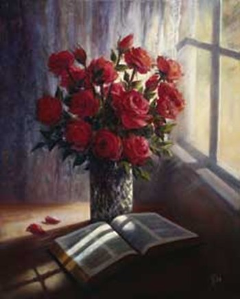 Lynn Pittard - Roses and Bible Size 16x20  Fine-Art Print