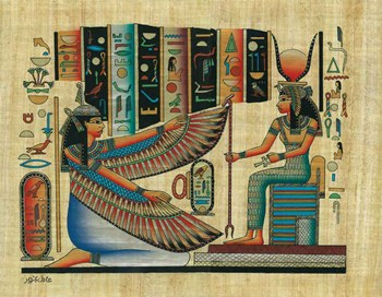 Hand painted papyrus I...