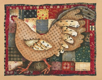 Patchwork Rooster  Fine-Art Print