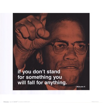 Malcolm X - iPhilosophy - Stand for Something  Fine-Art Print