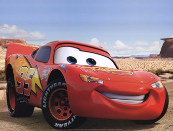 lightning mcqueen fine art print - Cars Pictures To Print