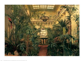 Michail ivanovic Antonov - Interior of the Winter Garden of the Winter Palace at St. Petersburg Size 26.8125x37  Fine-Art Print