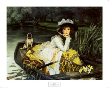 Young Woman in a Boat, 1870  Fine-Art Print