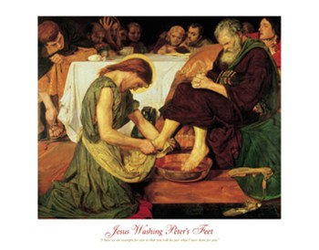 Ford maddox Brown - Jesus Washing Peter's Feet Size 22x28  Fine-Art Print