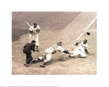 Jackie Robinson Stealing Home, May 18, 1952  Fine-Art Print