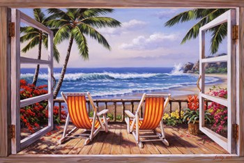 Tropical Terrace for Two  Fine-Art Print