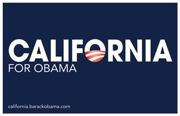 Barack Obama - (California for Obama) Campaign Poster  Wall Poster