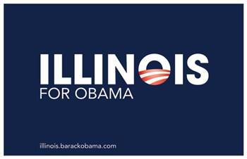 Barack Obama - (Illinois for Obama) Campaign Poster  Wall Poster