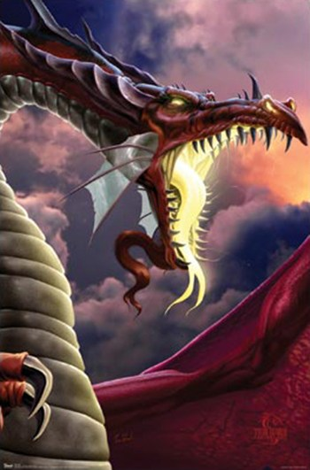 The Wretched Dragon  Wall Poster