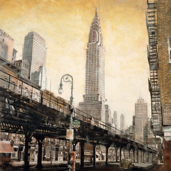 The Chrysler Building from the L  Fine-Art Print