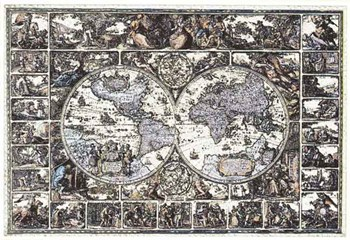 Old Map of the World  Fine-Art Print