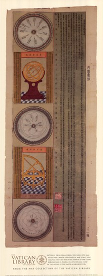 Section 1 - Eight Part Chinese Astrological Map, (The Vatican Collection)  Fine-Art Print
