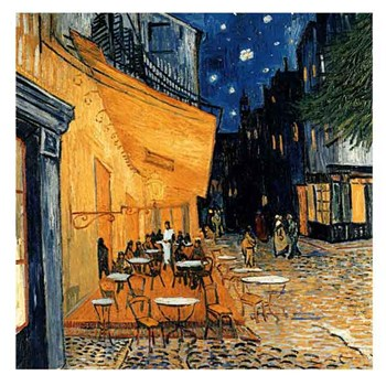 Cafe Terasse in the Evening  Fine-Art Print