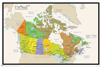 Map - Canada  Wall Poster