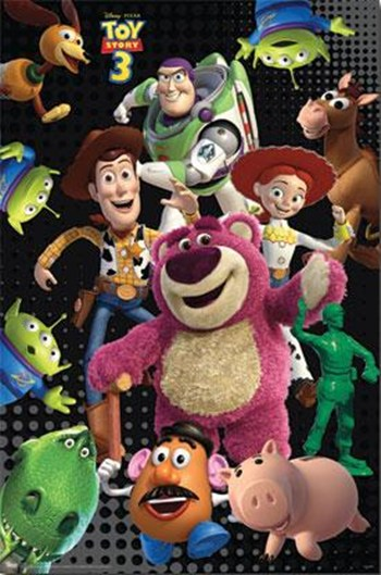 Toy Story 3 - Grid  Wall Poster