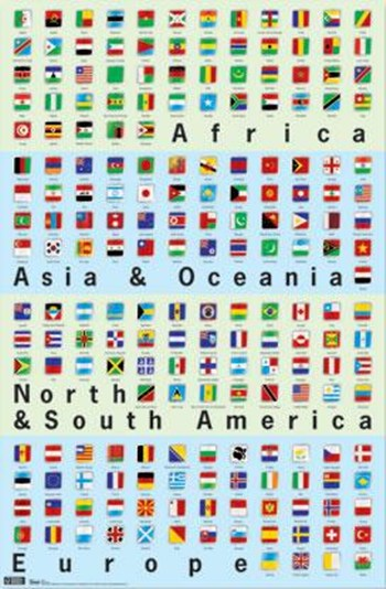 World Flags  Wall Poster