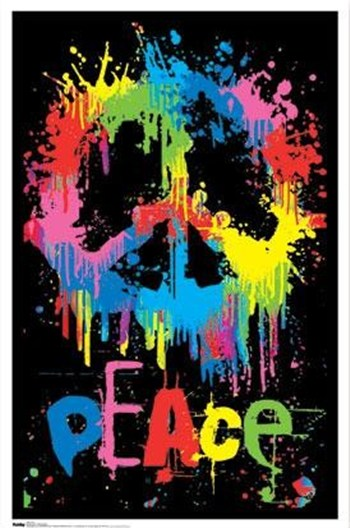 Peace Sign (blacklight)  Wall Poster