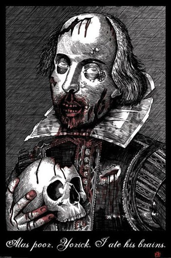 Zombie Shakespeare  Wall Poster