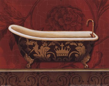 Royal Red Bath II  Fine-Art Print