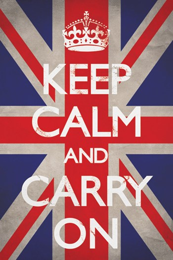 Keep Calm & Carry On - Union Jack  Wall Poster