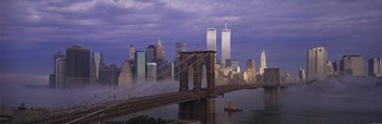 Manhattan In The Mist  Fine-Art Print