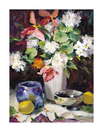 Geraniums and Lemons  Fine-Art Print