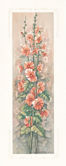 Hollyhocks II  Fine-Art Print
