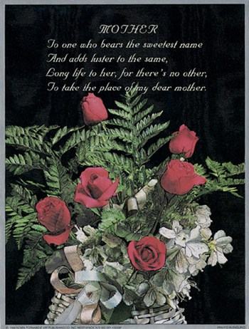 J.b. Grant - Mother / Red Roses Size 6x8  Fine-Art Print