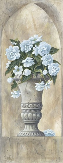 Urn with Red Geraniums  Fine-Art Print