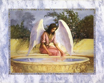 Angel with Fountain  Fine-Art Print